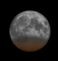 The moon will pass partway through the darkest part of Earth's shadow on June 4, 2012