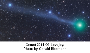 Comet 2014 Q2 Lovejoy photo by Gerald Rhemann