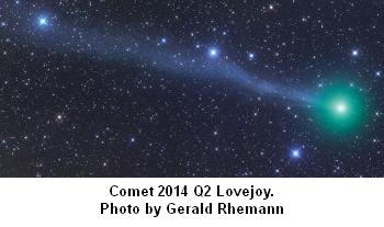 Comet 2014 Q2 Lovejoy photo by Gerald Rhemann
