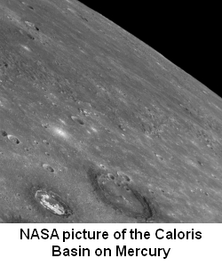 NASA image of the Caloris Basin on Mercury