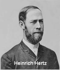 Heinrich Hertz studied radio waves in the 1880s and discovered they bounce off some objects.