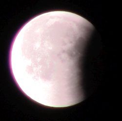Image of the partial phase of a lunar eclipse