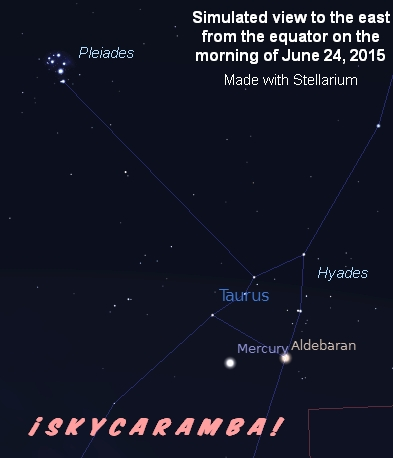 Mercury on June 24, 2015