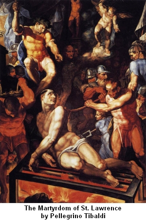 Pellegrino Tibaldi painting of The Martyrdom of St. Lawrence