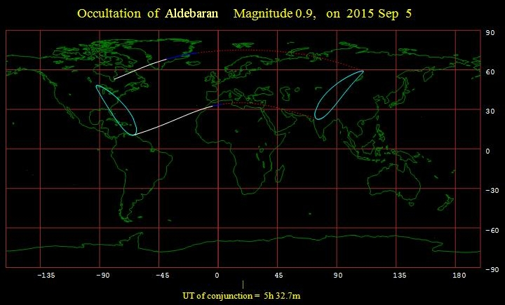 Aldebaran occultation Sep 5, 2015
