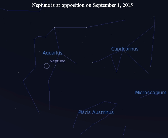 Neptune at opposition in Aquarius in September 2015