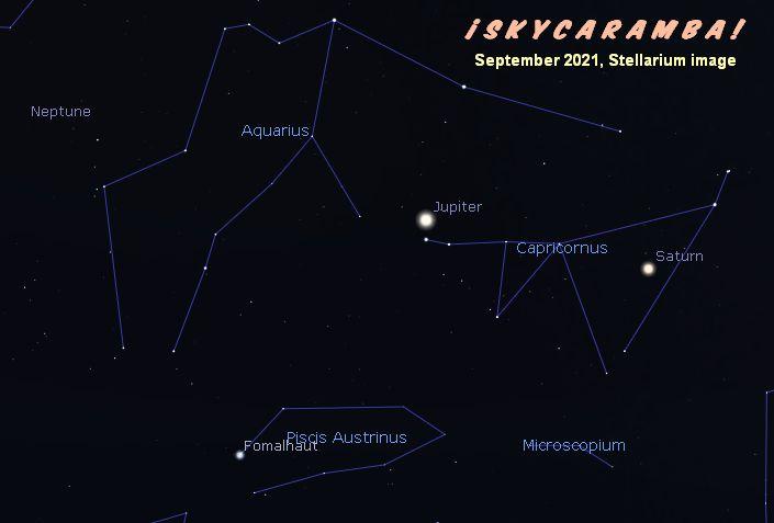 Jupiter and Saturn in September 2021