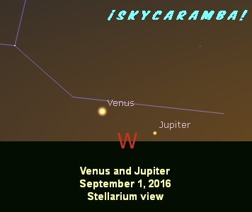 Jupiter and Venus on September 1, 2016