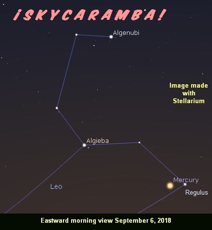 Mercury on September 6, 2018