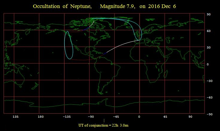Moon occults Neptune 120616