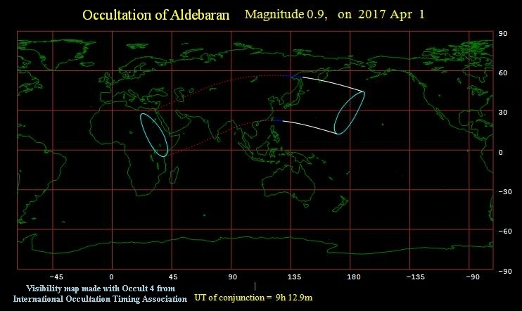 Occultation of Aldebaran 040117