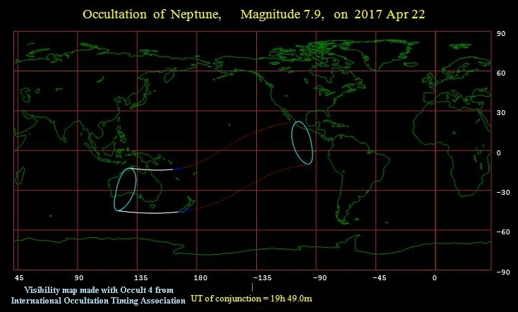 Occultation of Neptune 042217
