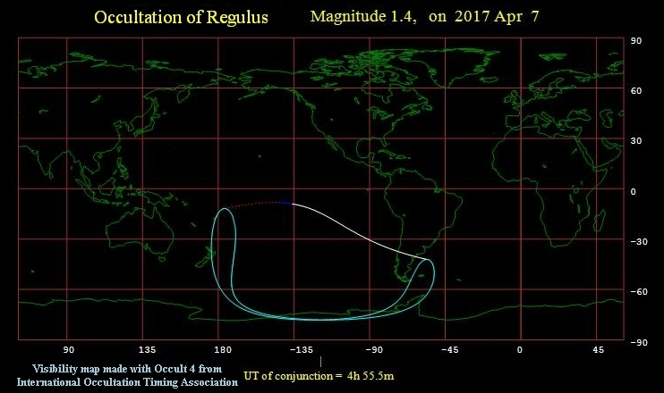 Occultation of Regulus 040717