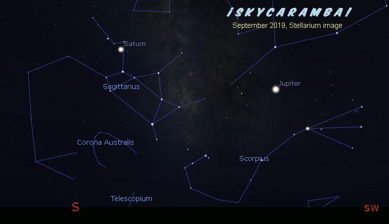 Saturn and Jupiter in September 2019