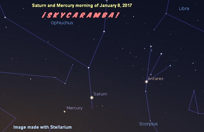 Saturn and Mercury January 8, 2017