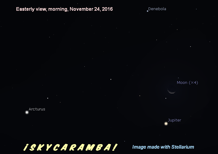 Jupiter and the moon, Nov. 24, 2016
